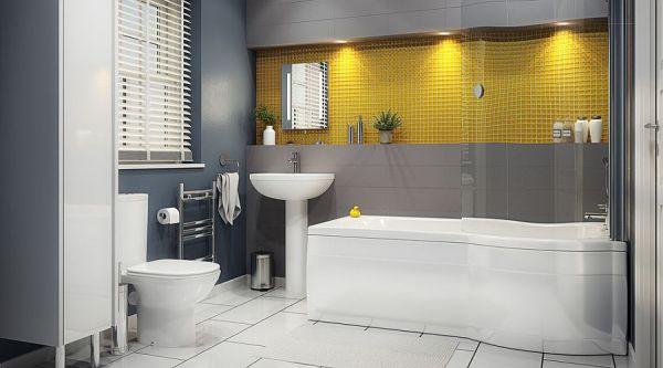 Μπάνια με τη ζεστή δελεαστική ομορφιά του Κίτρινου1
