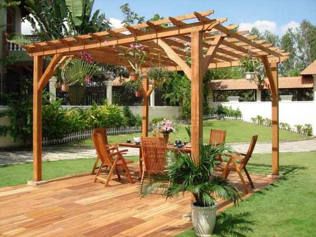 Ιδέες σχεδιασμού ξύλινης πέργκολας14