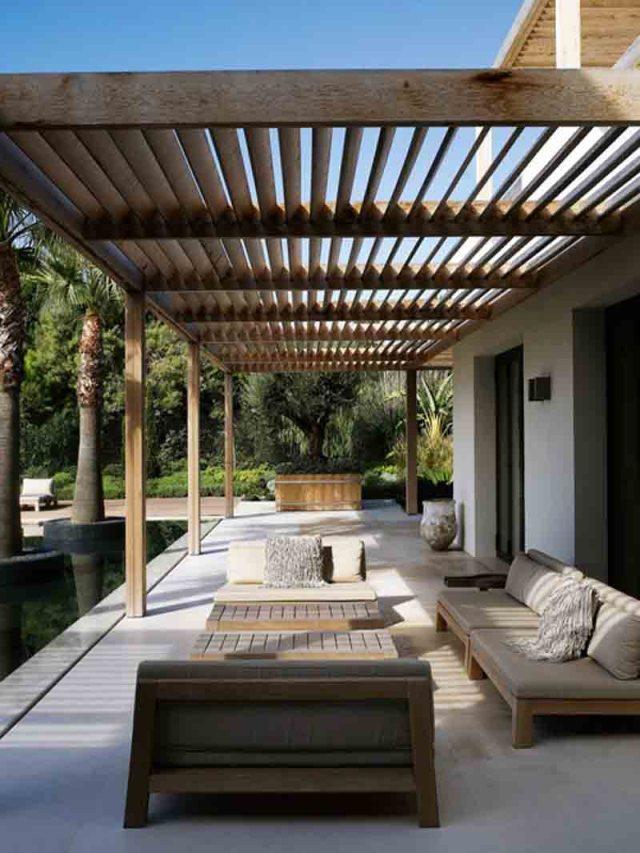 Ιδέες σχεδιασμού ξύλινης πέργκολας37