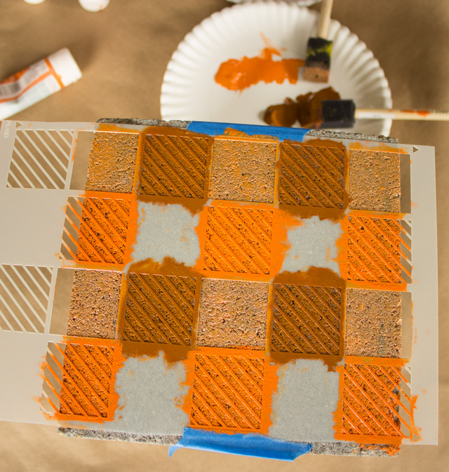 DIY Βάζα από τσιμεντένια μπλόκα3
