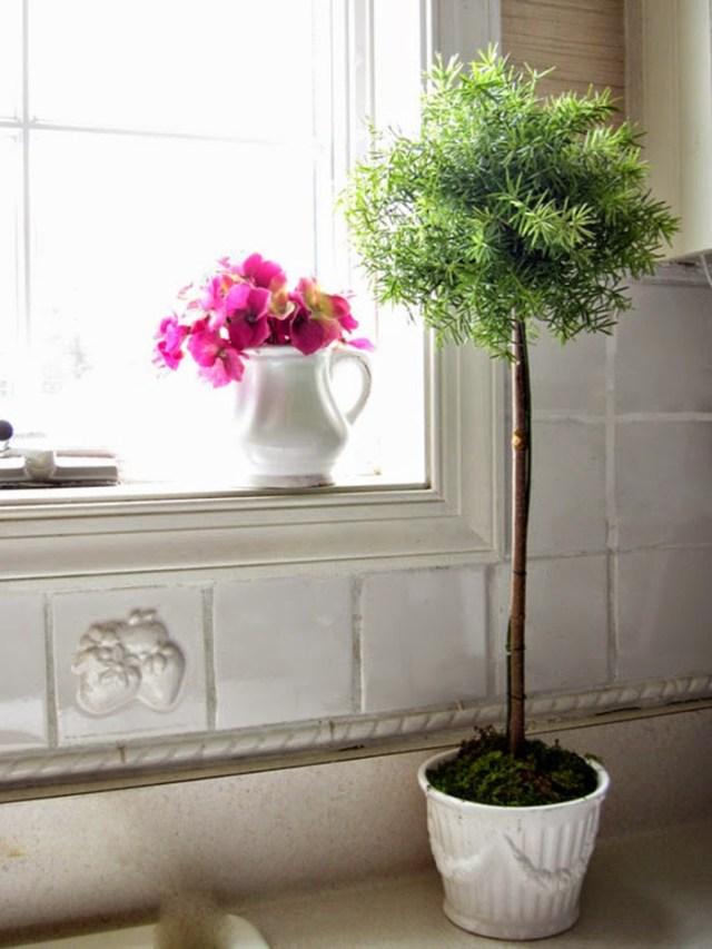 DIY διακόσμηση με ψεύτικα φυτά1