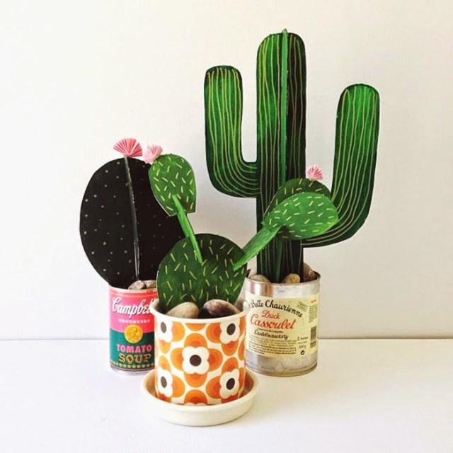 DIY διακόσμηση με ψεύτικα φυτά6