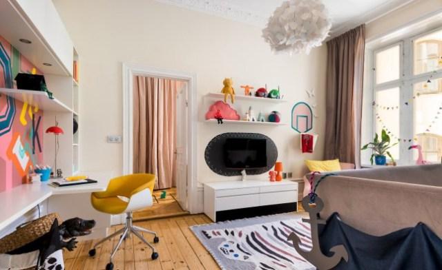 Έντονα χρώματα σε ένα καταπληκτικό σκανδιναβικό διαμέρισμα20