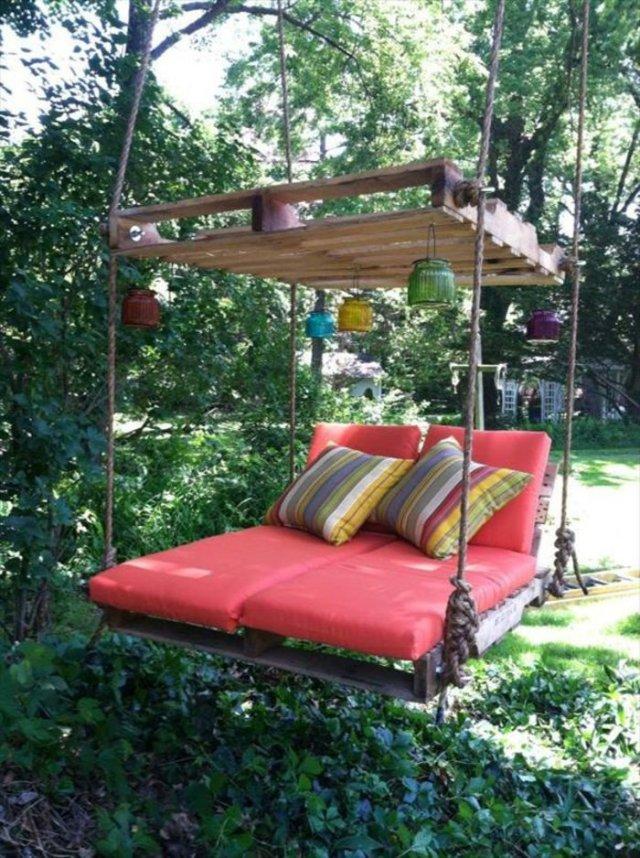 Ιδέες με ξύλινες παλέτες105