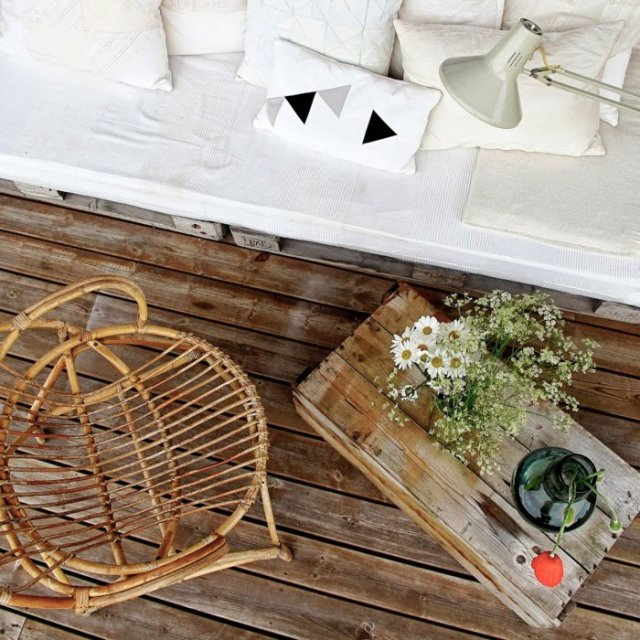 Ιδέες με ξύλινες παλέτες2