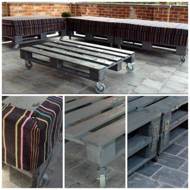 Ιδέες με ξύλινες παλέτες22