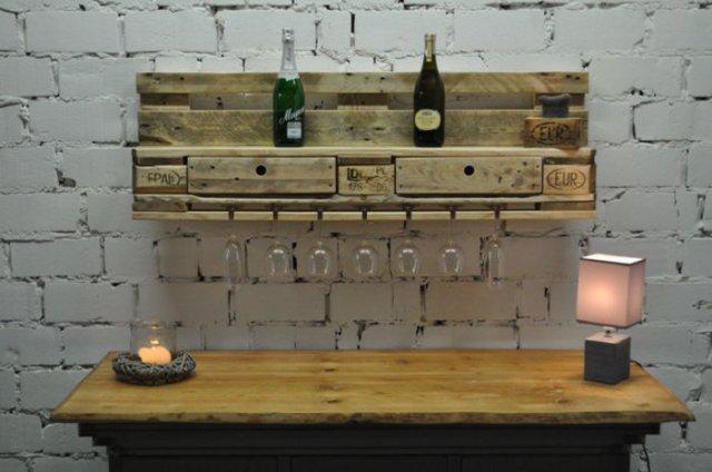 Ιδέες με ξύλινες παλέτες55