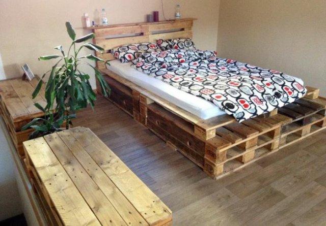 Ιδέες με ξύλινες παλέτες57