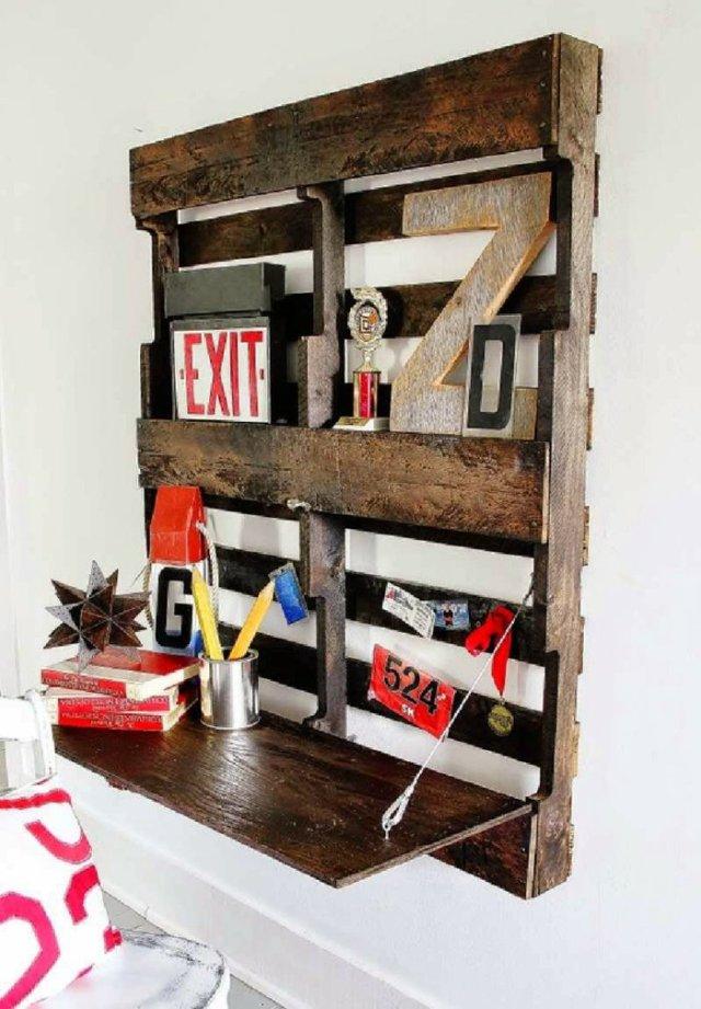 Ιδέες με ξύλινες παλέτες77