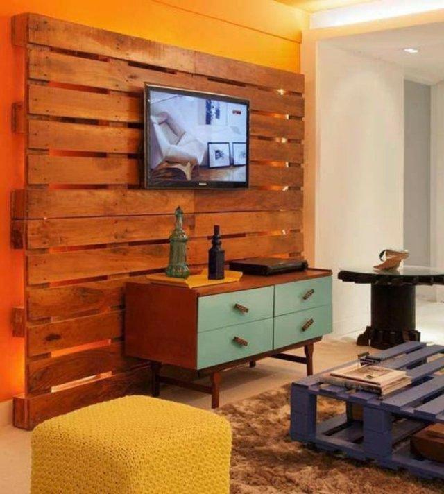 Ιδέες με ξύλινες παλέτες99