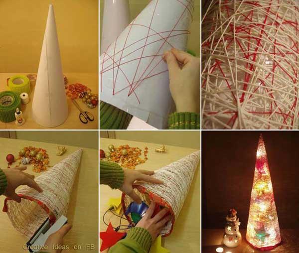 DIY Χριστουγεννιάτικες διακοσμήσεις1