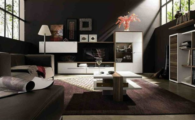 wall decoration ideas in dark shades27