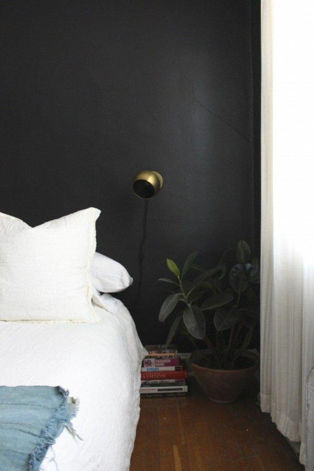 wall decoration ideas in dark shades46