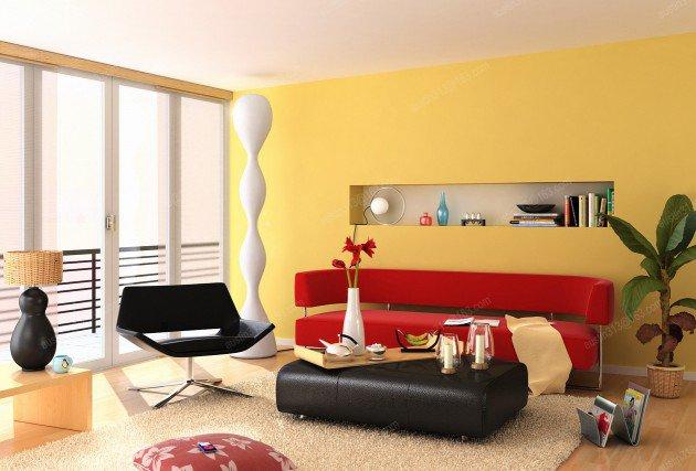 ιδέες διακόσμησης με κίτρινο4