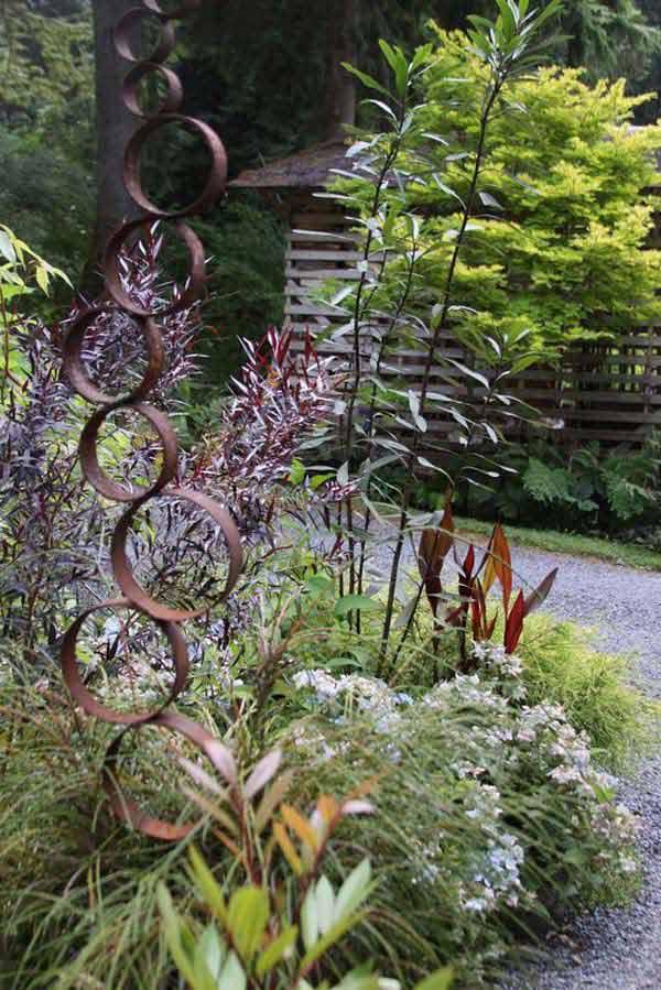 diy σκουριασμένα διακοσμητικά για τον κήπο17