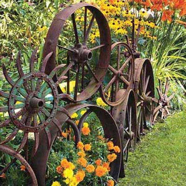 diy σκουριασμένα διακοσμητικά για τον κήπο3