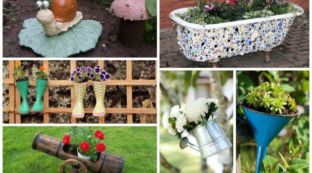 DIY διακοσμήσεις κήπου