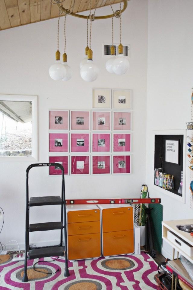 DIY ombre φώτο gallery τοίχου5