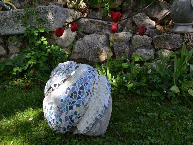 diy ψηφιδωτές διακοσμήσεις κήπου19