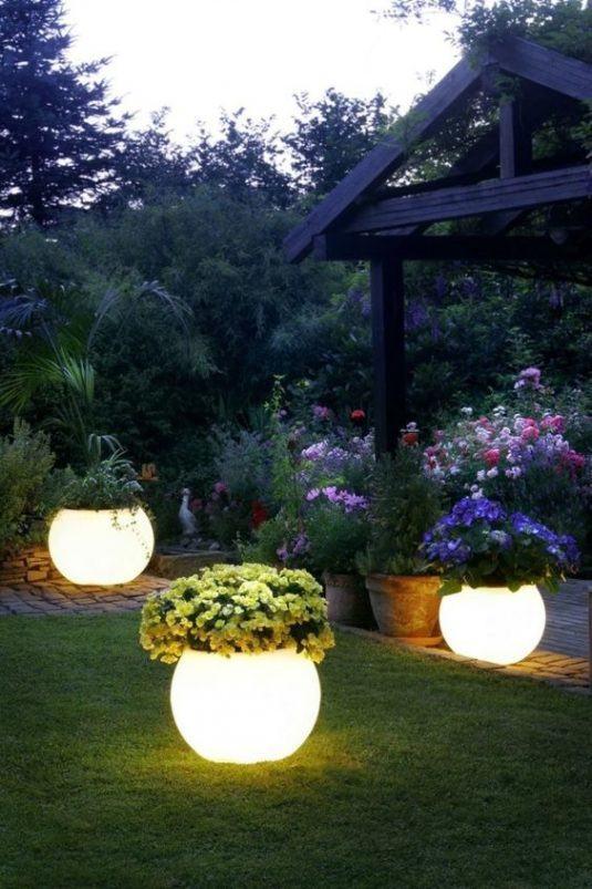Φωτιζόμενες γλάστρες ιδέες7