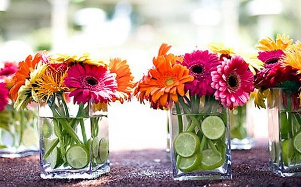 Διακοσμήστε με γυάλινα μπουκάλια και λουλούδια12