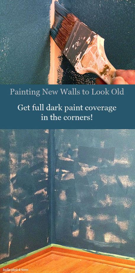 βαψετε ένα καινουργιο τοίχο για να φαίνεται παλιός5