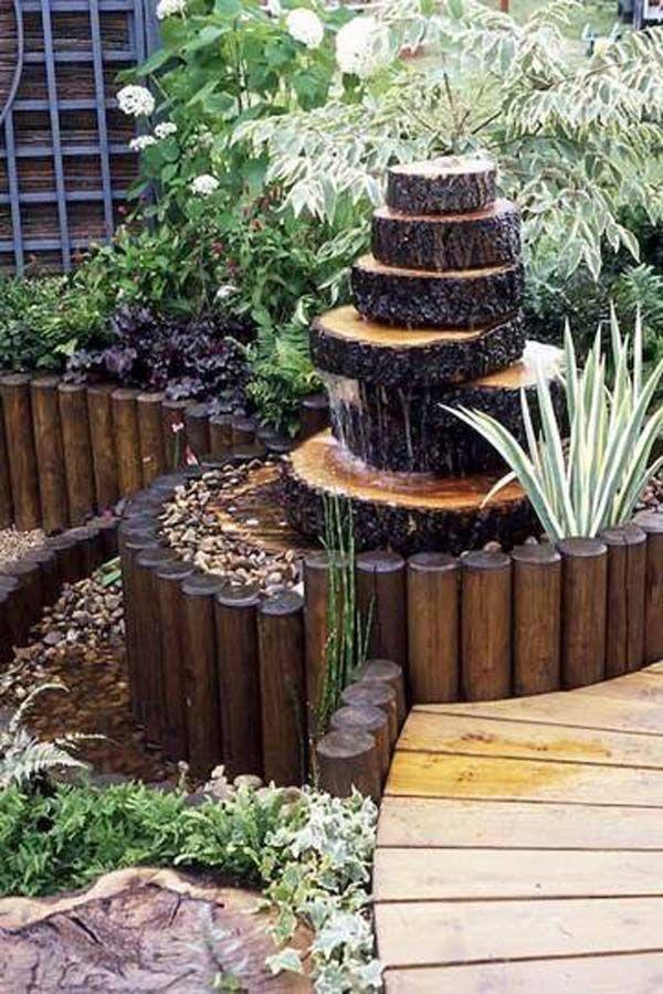 ξύλινα σιντριβάνια κήπου19