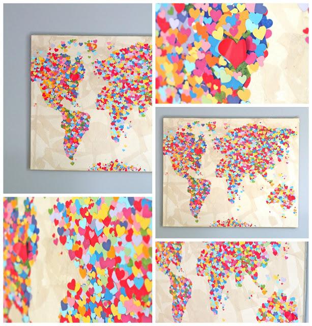 Diy United Colors of Love Παγκόσμιος Χάρτης3