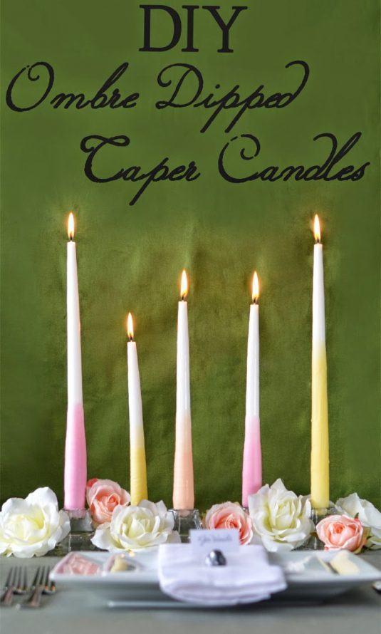 Ανοιξιάτικες διακοσμήσεις με κεριά1