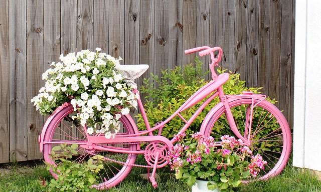 Ιδέες για γλάστρες με παλιά ποδήλατα18