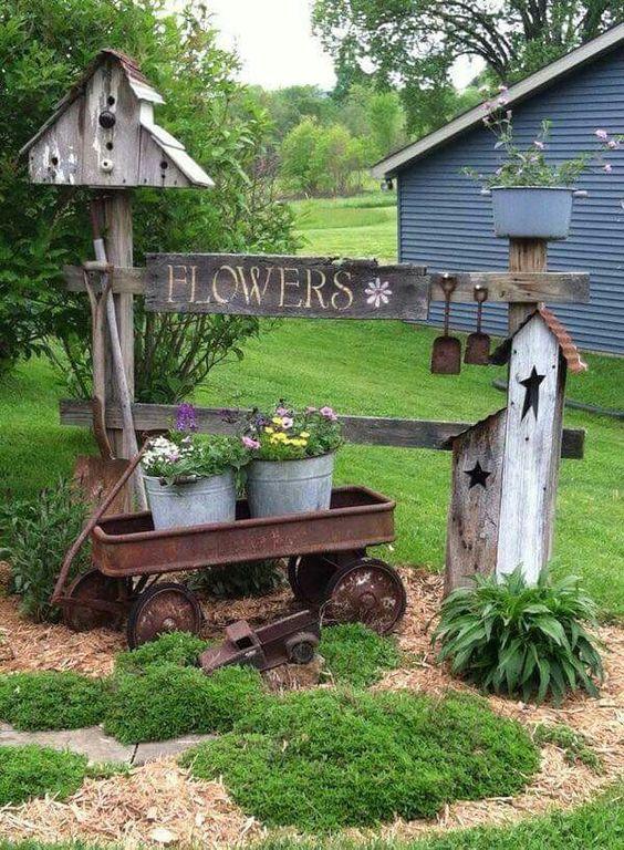 ιδέες χωριάτικης διακόσμησης κήπου1