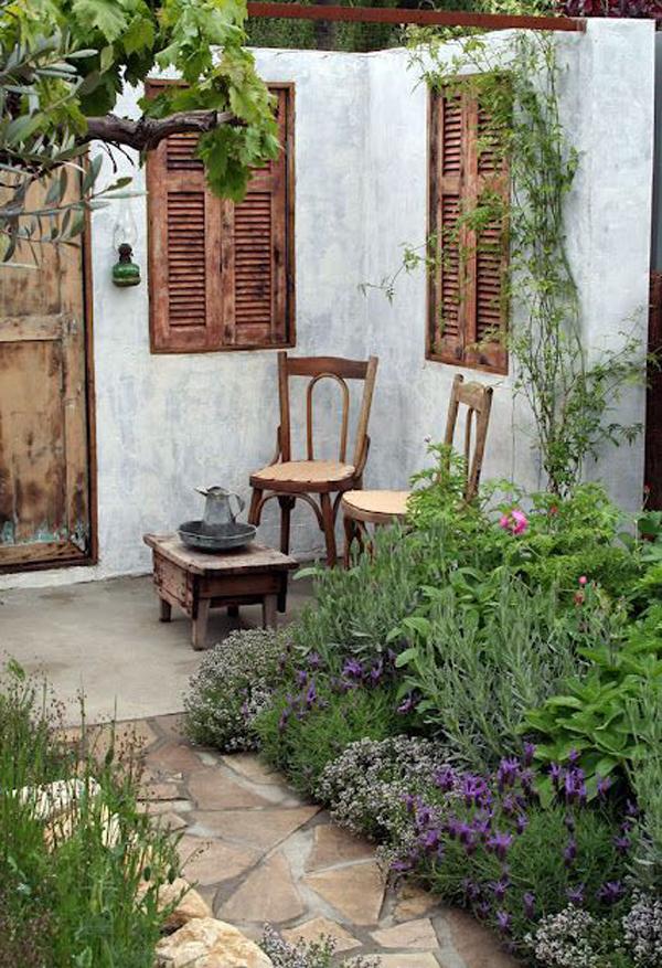 ιδέες χωριάτικης διακόσμησης κήπου8