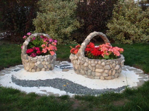 πέτρινα ντεκόρ για τον κήπο σας1