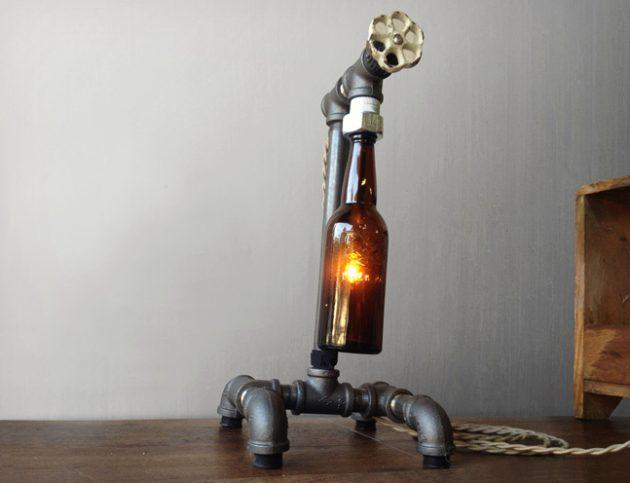 παλιά γυάλινα μπουκάλια σε απίθανα φωτιστικά17