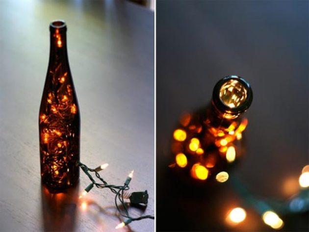 παλιά γυάλινα μπουκάλια σε απίθανα φωτιστικά19