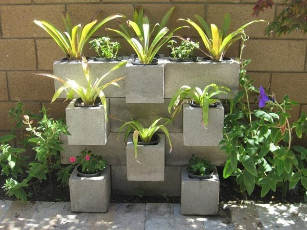 DIY ιδέες κήπου με μπλόκα2