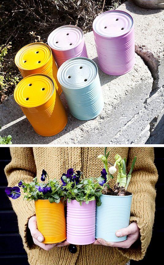 diy ιδέες για γλάστρες κήπου7