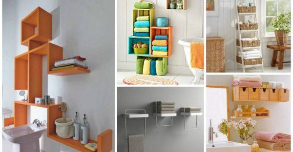 ιδέες αποθήκευση πετσετών για το μπάνιο
