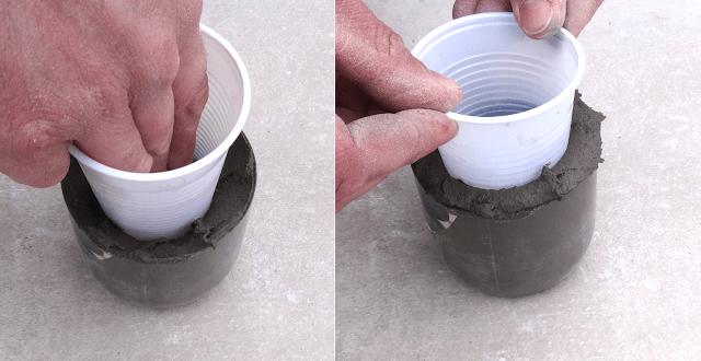 Μικρές DIY γλάστρες από τσιμέντο6