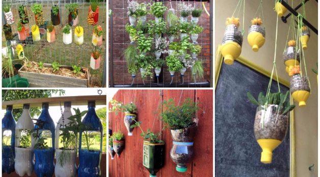 DIY γλάστρες από πλαστικά μπουκάλια