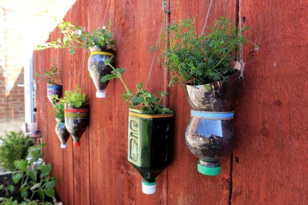DIY γλάστρες από πλαστικά μπουκάλια15