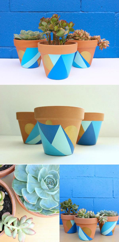 DIY ιδέες με γλάστρες22