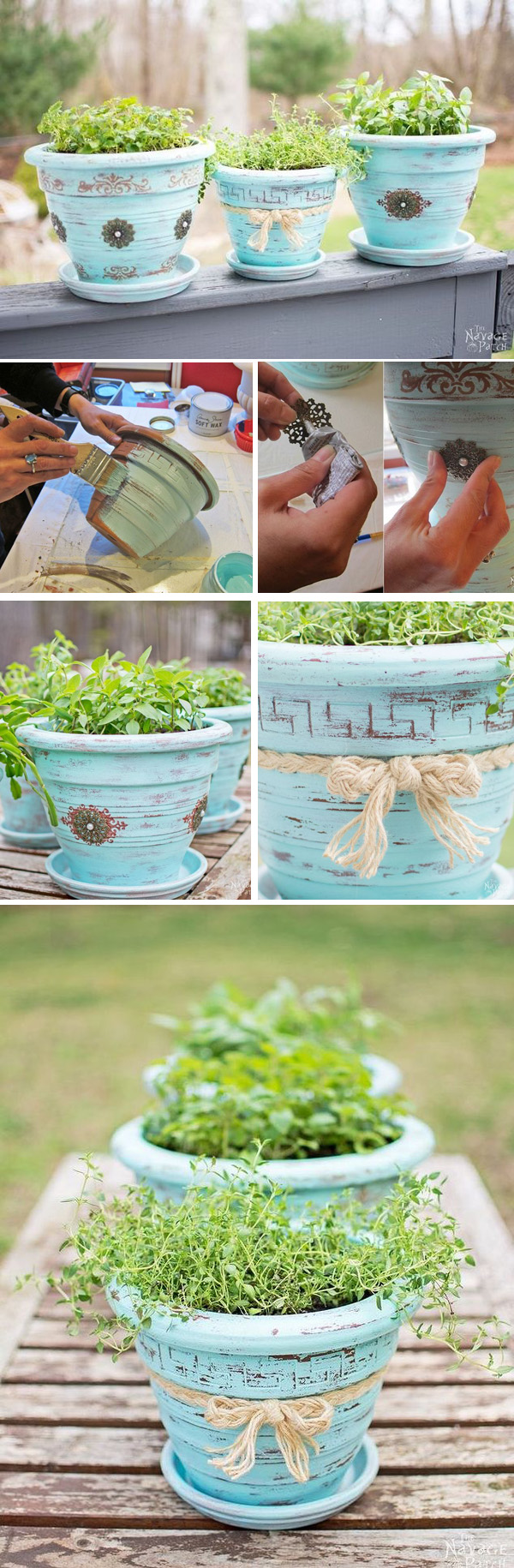 DIY ιδέες με γλάστρες3