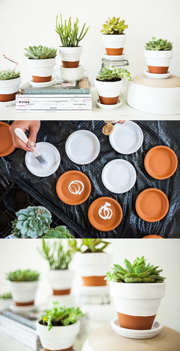 DIY ιδέες με γλάστρες46