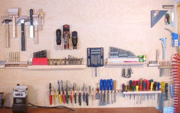 DIY ιδέες αποθήκευσης και οργάνωσης των εργαλείων3