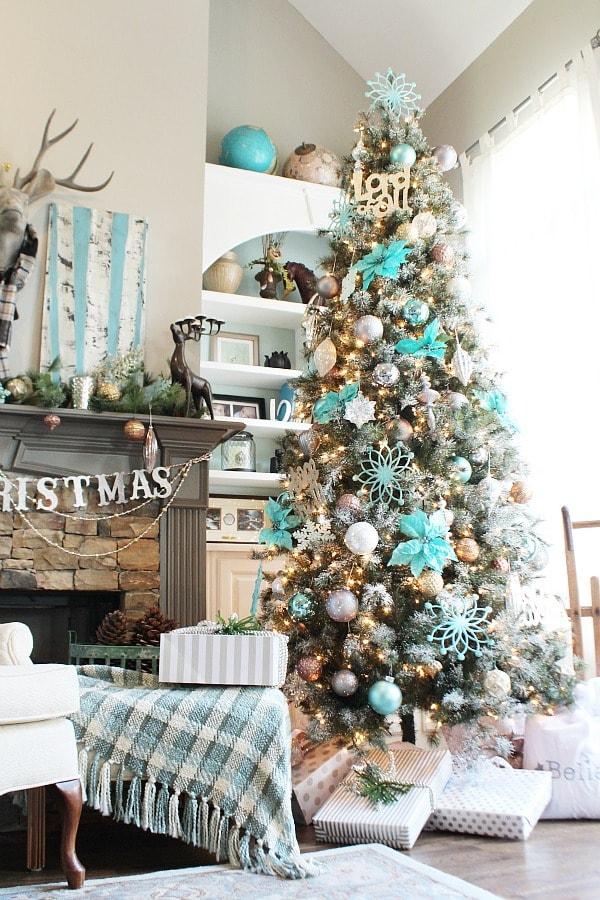 Χριστουγεννιάτικη διακόσμηση σε τιρκουάζ6