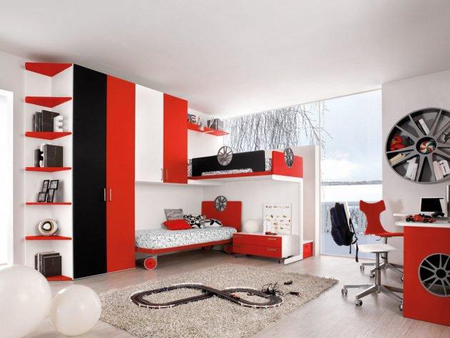 διακόσμηση με κόκκινο χρώμα10