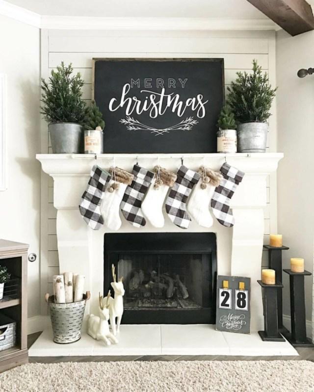 χριστουγεννιάτικη διακόσμηση σε άσπρο - μαύρο30