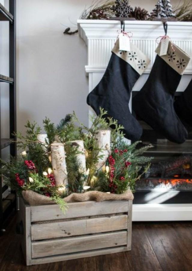 χριστουγεννιάτικη διακόσμηση σε άσπρο - μαύρο35