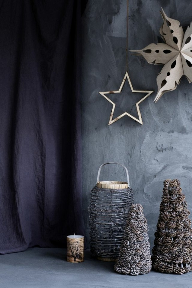 χριστουγεννιάτικη διακόσμηση σε άσπρο - μαύρο5